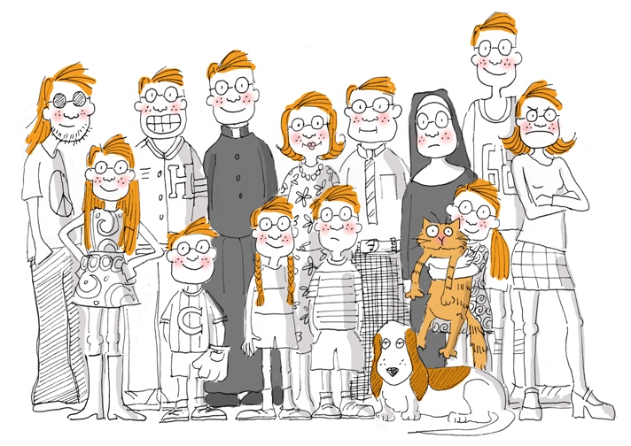 One Big Happy Family Cartoon
